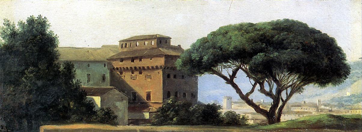 Пьер Де Валансьен. Вид монастыря с зонтичной пинией
