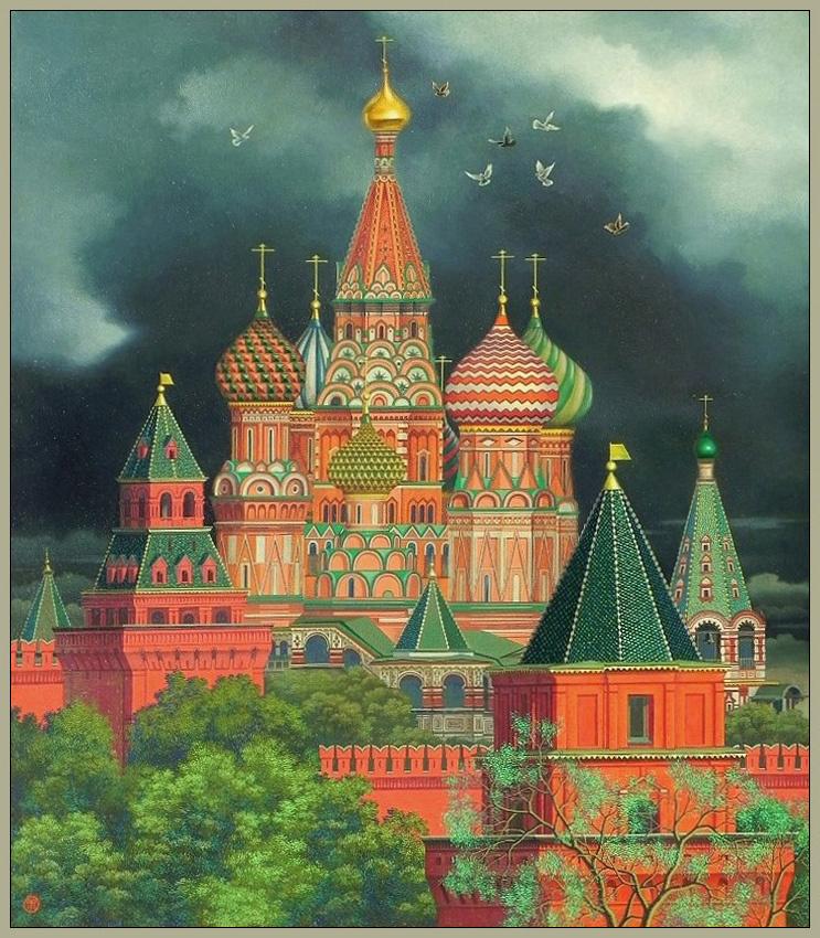 "Vasily Vasilyevich Timofeev. ""St. Basil's Cathedral"""