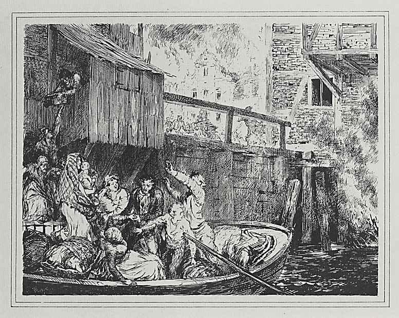Адольф фон Менцель. Пожар в городе