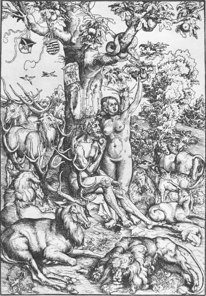 Лукас Кранах Старший. Адам и Ева 1509