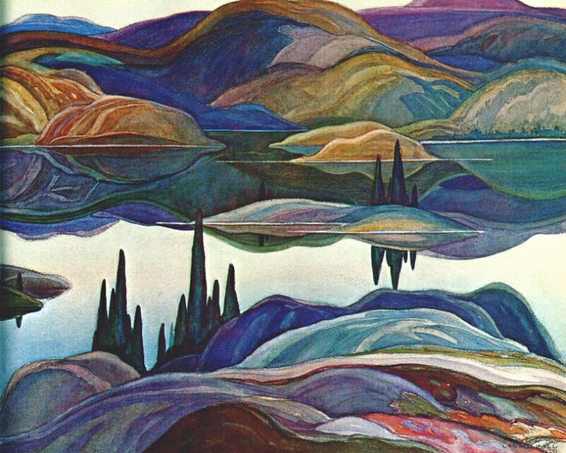Джон Кармайкл. Зеркальное озеро