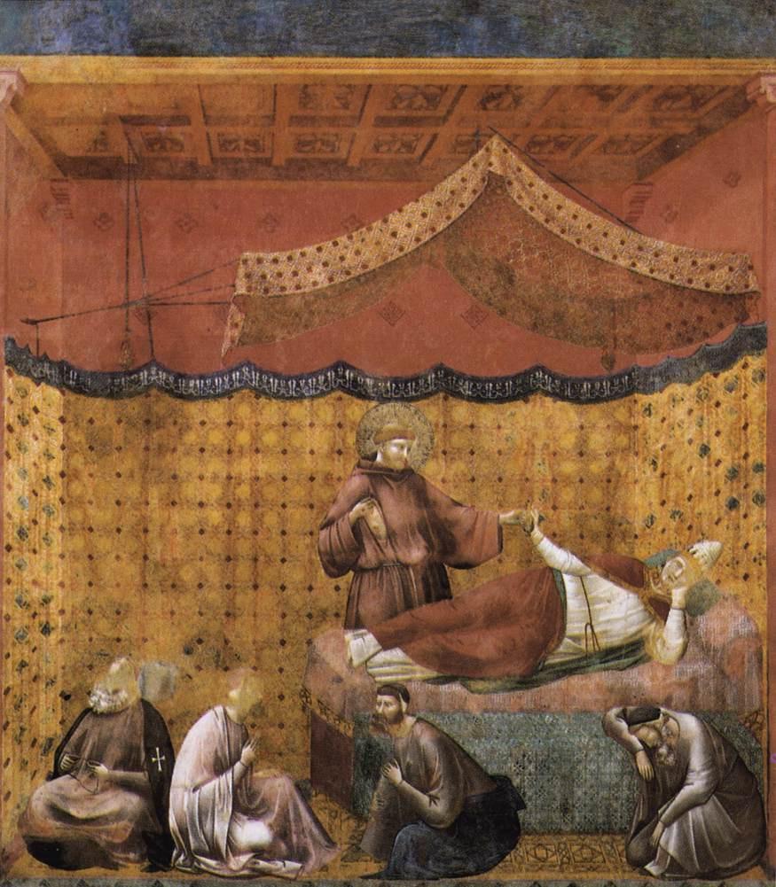 Giotto di Bondone. Dream of St. Gregory. The Legend of Saint Francis