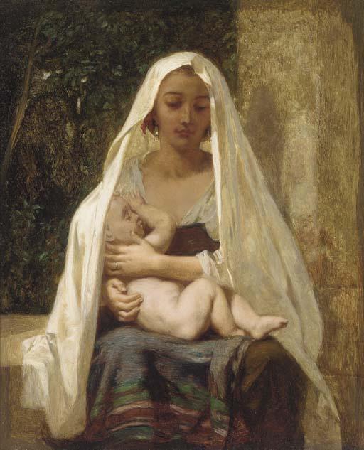 Фредерик Гудолл. Мать и дитя