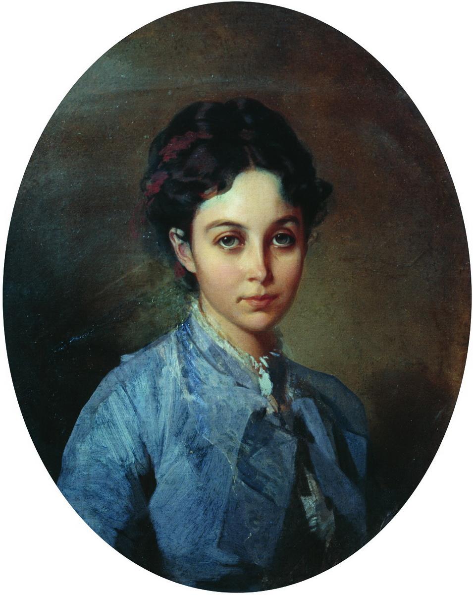 Ivan Kuzmich Makarov. Portrait of Vishnyukova. 1850s