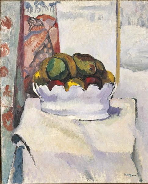Henri Manguin. Still life with fruits and mushrooms