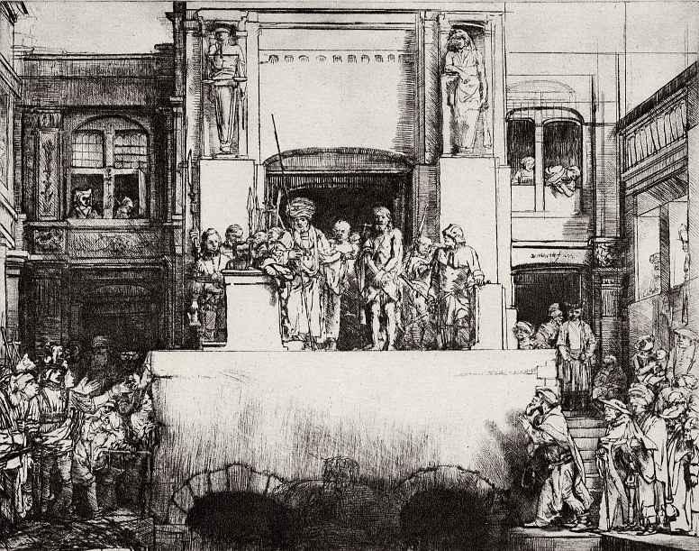 Рембрандт Харменс ван Рейн. Христос перед народом