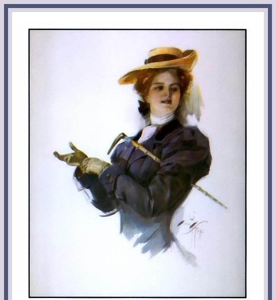 Harrison Fisher. Girl in gloves