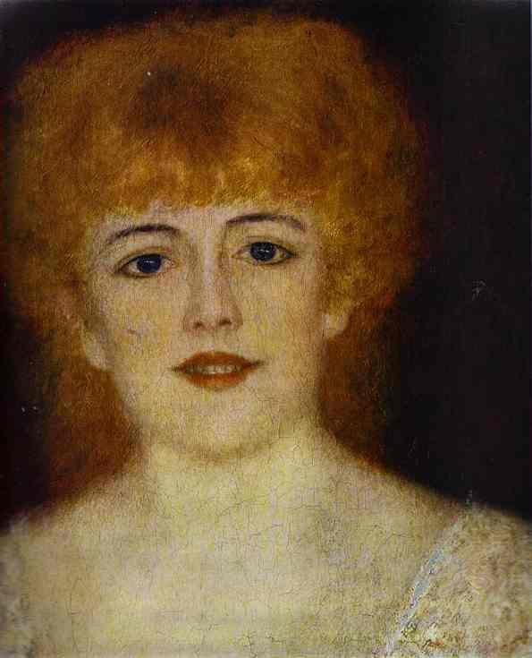 Pierre-Auguste Renoir. Portrait of the actress Jeanne Samari. Fragment