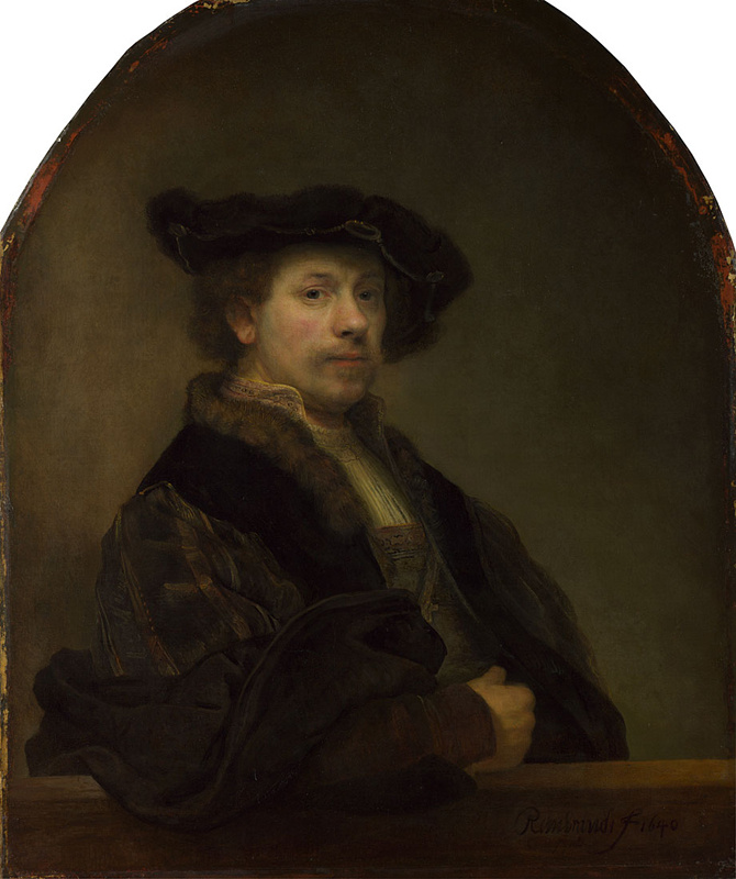 Rembrandt Harmenszoon van Rijn. Self portrait at the age of 34 years