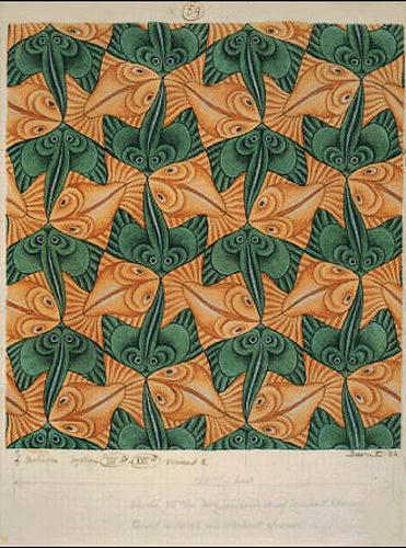Maurits Cornelis Escher. Two fish (No. 59)
