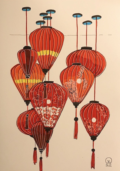 Larissa Lukaneva. Phu Quoc. Flashlights. Sketch.