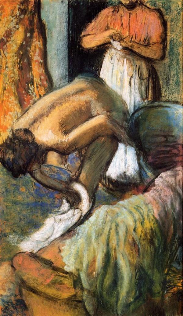 Edgar Degas. Breakfast after a bath. A Cup of coffee