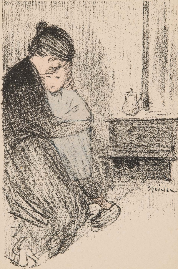 Theophile-Alexander Steinlen. Mother and child