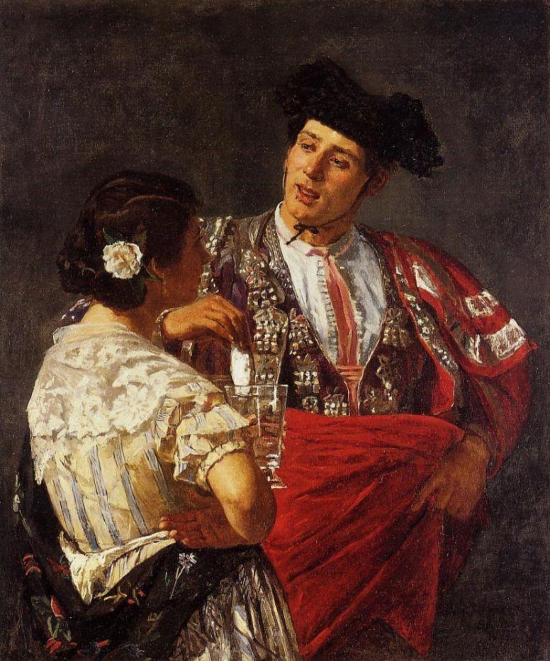 Mary Cassatt. Drink for bullfighter