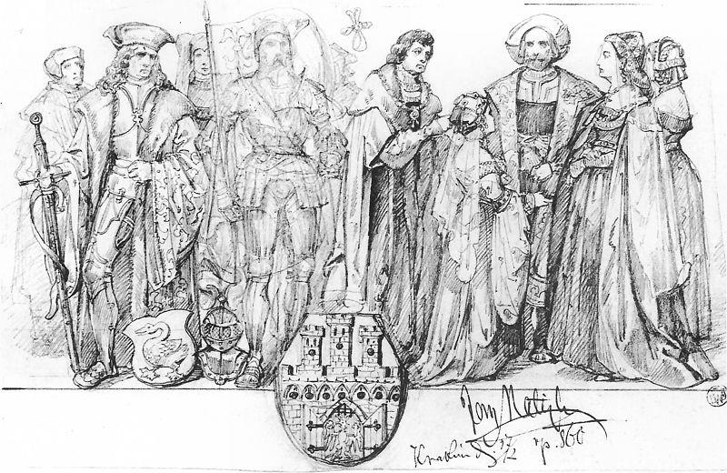 Ян Матейко. Жители Кракова в 1507 - 1548 г.г.