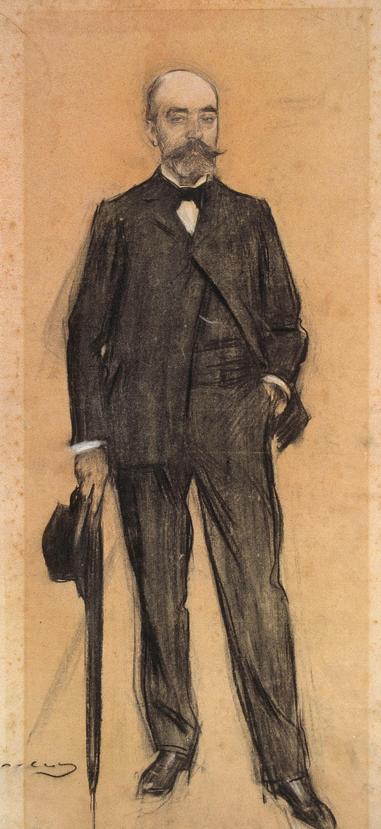 Ramon Casas i Carbó. Portrait of Frederick Masriyer
