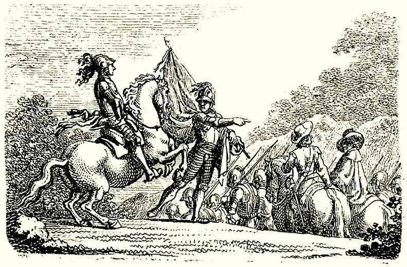Даниэль  Николай Ходовецкий. Поход армии периода Тридцатилетней войны
