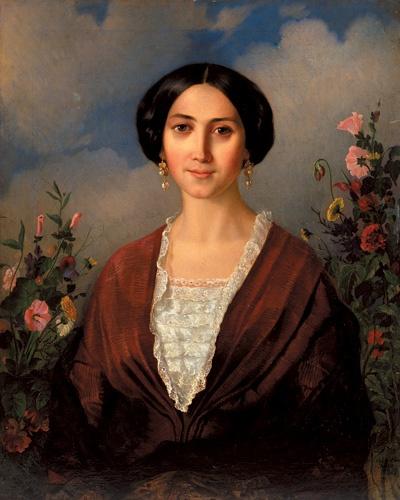 Apollo Nikolaevich Mokritsky. Portrait of Maria Mokrickiy, wife of the artist