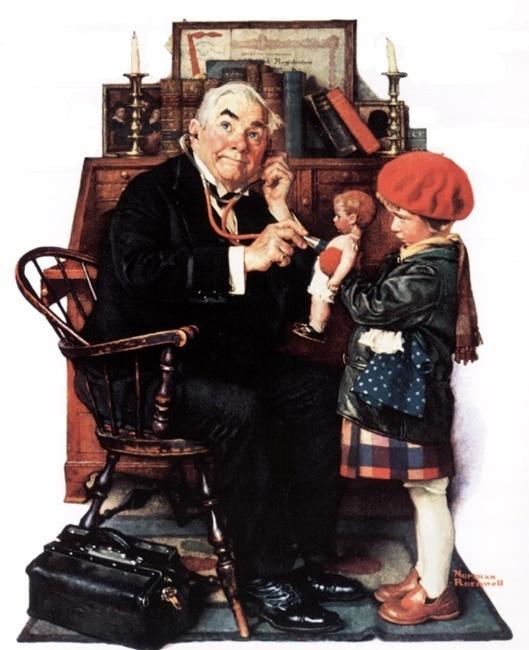 Норман Роквелл. Доктор и кукла