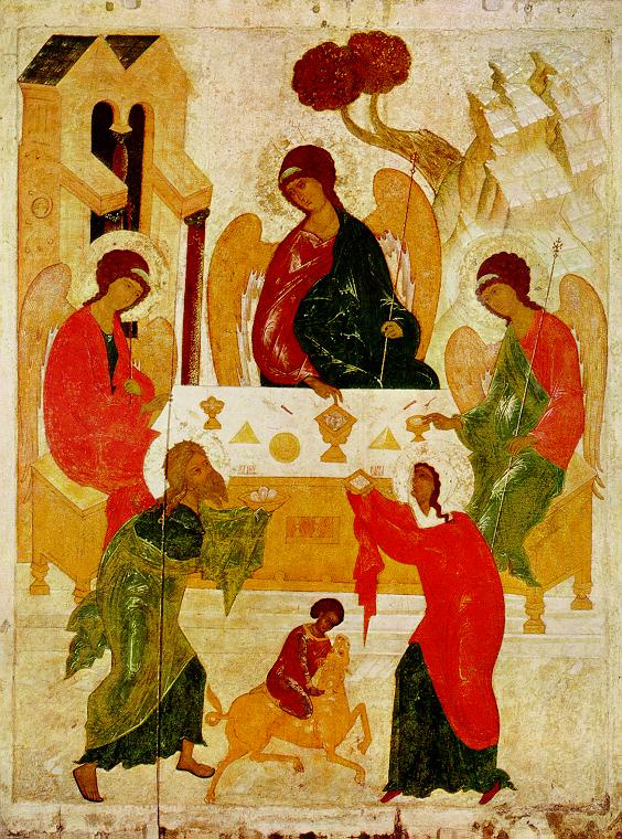 The old Testament Trinity by Icon Painting: History