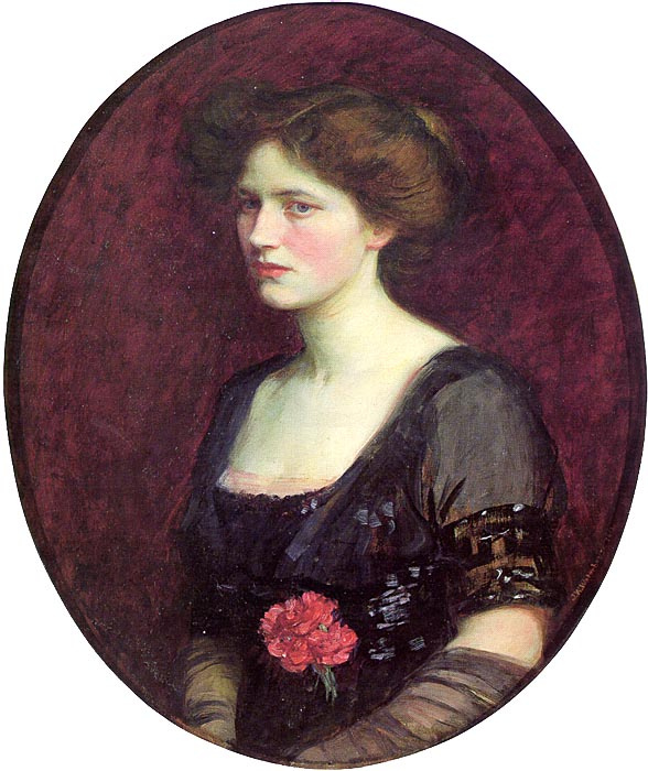 John William Waterhouse. Portrait of Mrs Charles Schreiber
