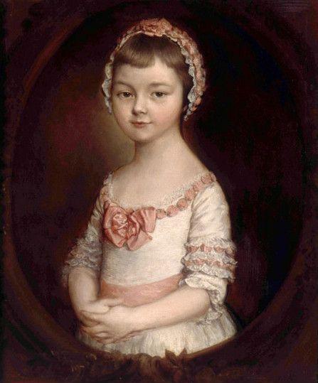 Томас Гейнсборо. Детский портрет леди Джорджианы Спенсер (последняя версия)