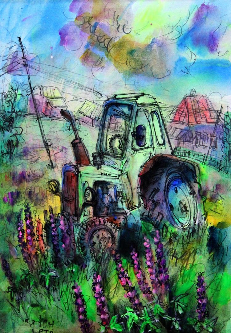 Ilya Pavlovich Spichenkov. Village tractor