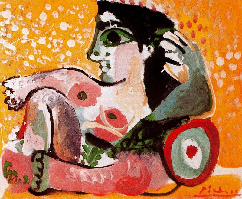 Пабло Пикассо. Обнаженная, опирающаяся на подушки