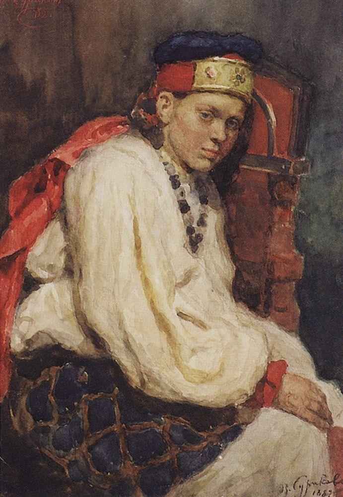 Василий Иванович Суриков. Натурщица в старинном русском костюме