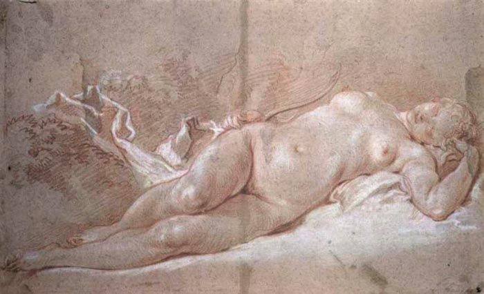 Франсуа Буше. Спящая Диана