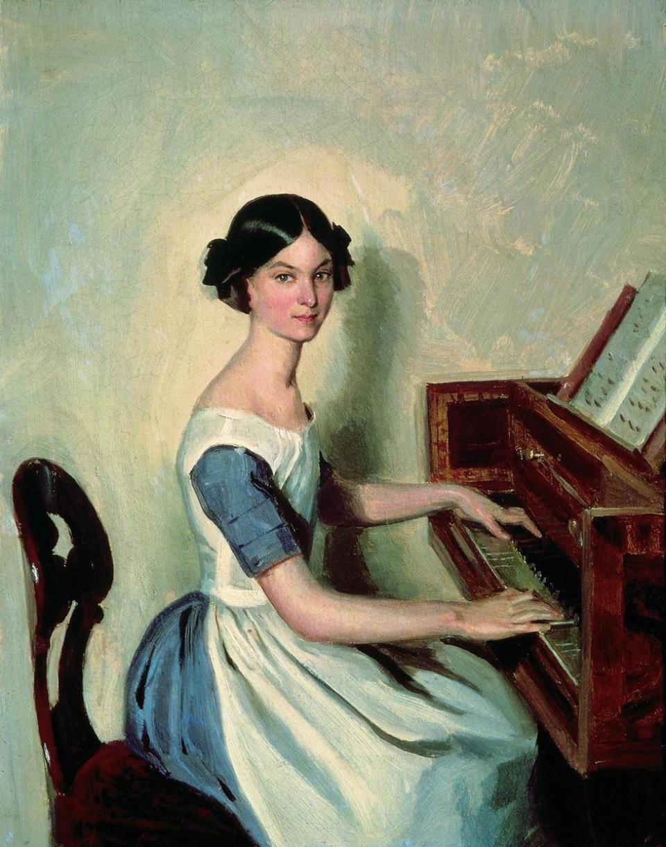 Pavel Andreevich Fedotov. Portrait of Nadezhda Petrovna Zhdanovich at the piano