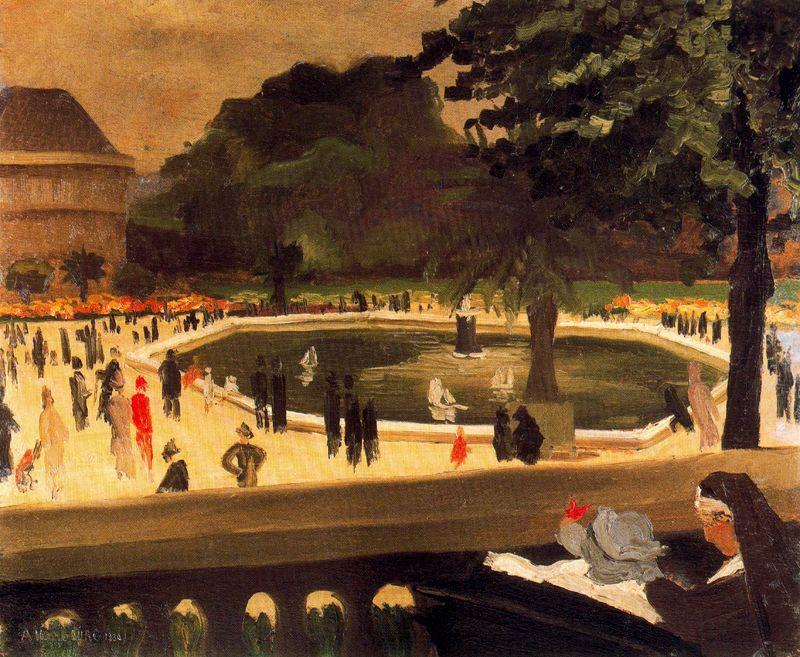 Андре Хамбоург. Фонтан в парке