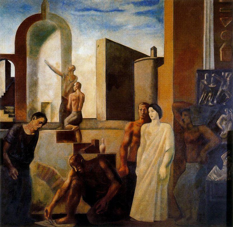 Марио Сирони. Женщина в белом