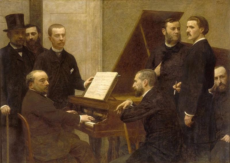 Henri Fantin-Latour. At the piano