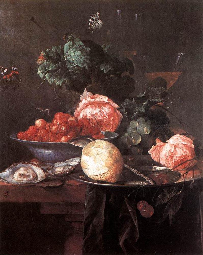Ян Давидс де Хем. Натюрморт с фруктами