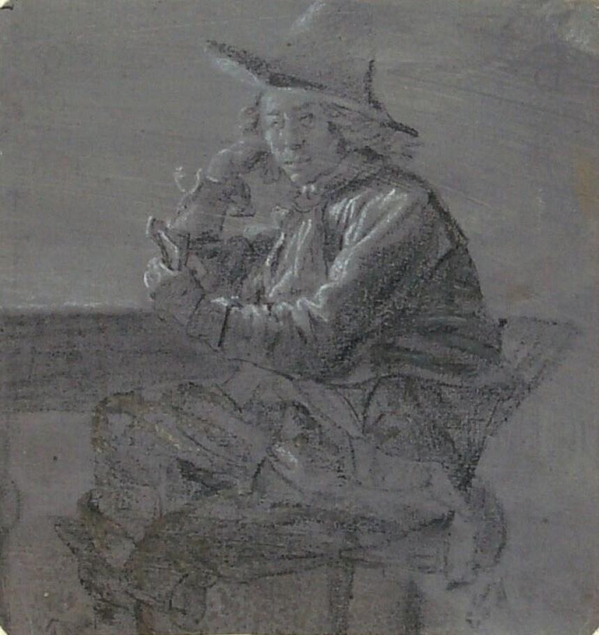 Питер де Хох. Сидящий за столом мужчина