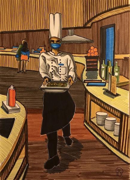 Larissa Lukaneva. Phu Quoc. Chef Sketch.