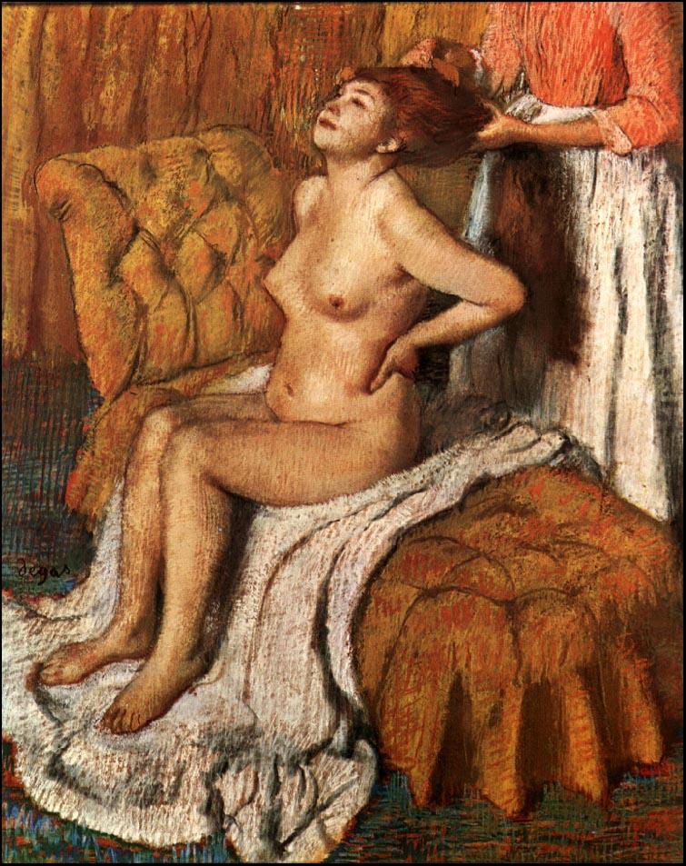 Эдгар Дега. Женщине расчесывают волосы