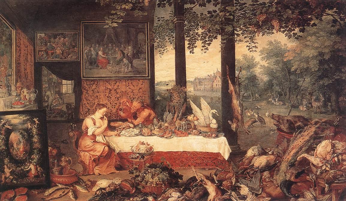 Jan Bruegel The Elder. The sense of taste