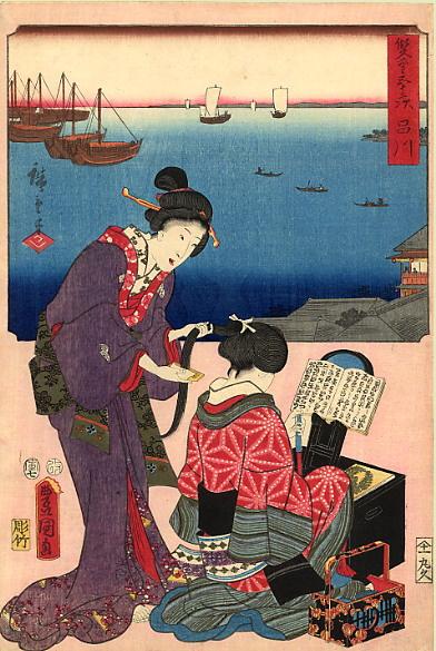 Хиросигэ Кунисада. Две женщины