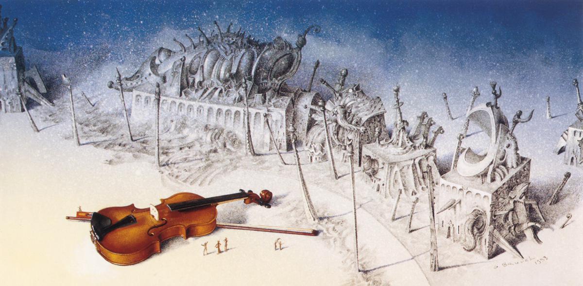 Гил Брювель. Скрипка на снегу