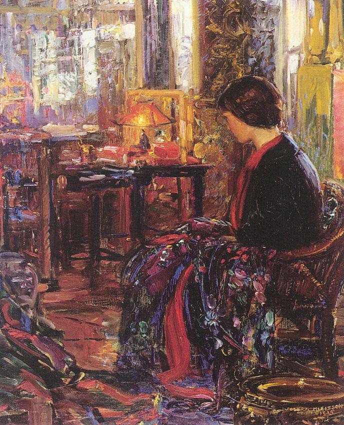 Джозеф А. Клеитсч. Женщина сидит в кресле