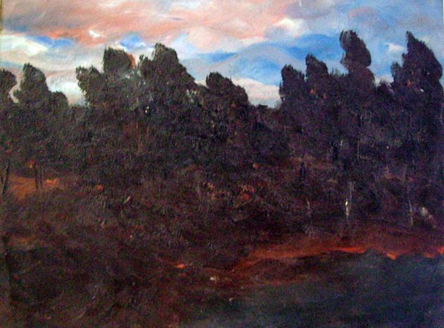 Stanislav Yulianovich Zhukovsky. The forest pond. The evening