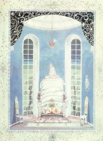 Кей Нильсен. Иллюстрация к сказке Принцесса на горошине