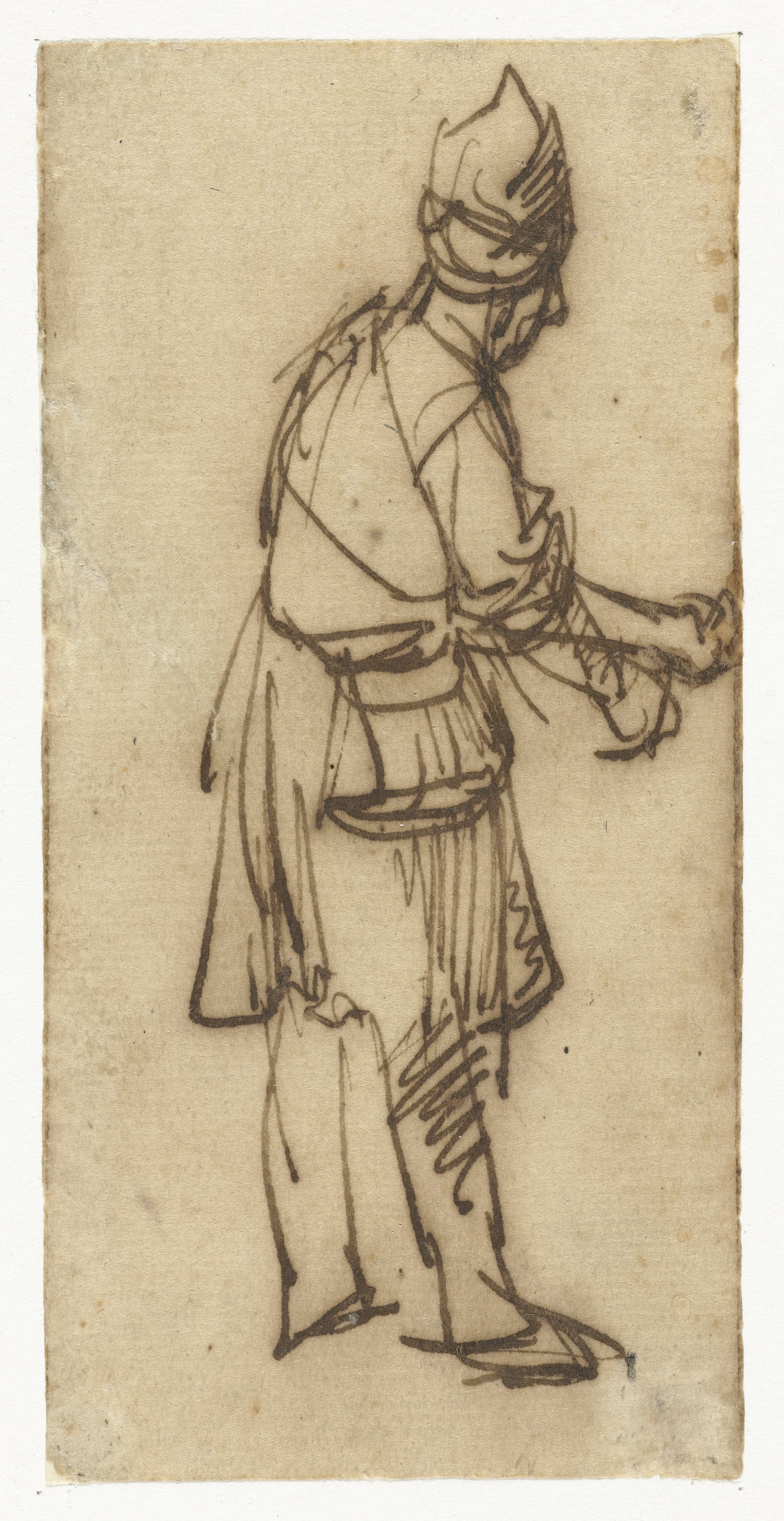 Rembrandt Harmenszoon van Rijn. Standing Man with Outstretched Arm
