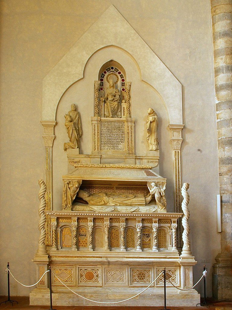 Arnolfo di Cambio. Tomb of Cardinal de Braye