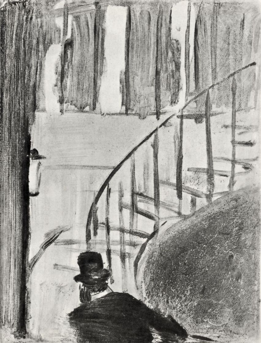 Edgar Degas. Ludovic Halevy climbing the stairs