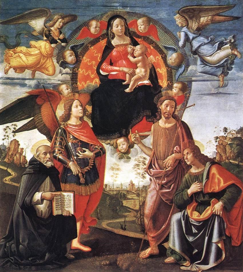 Domenico Girlandajo. Madonna in glory with saints