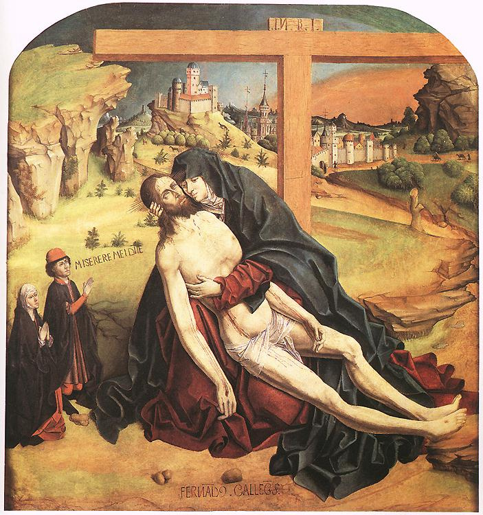 Fernando Gallego. The descent from the cross
