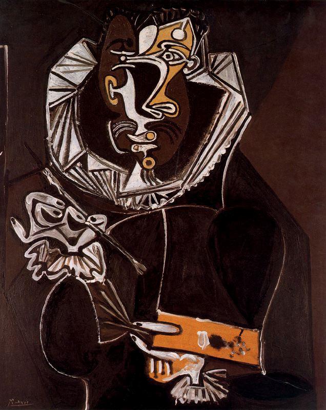 Pablo Picasso. Portrait of the artist, in imitation of El Greco